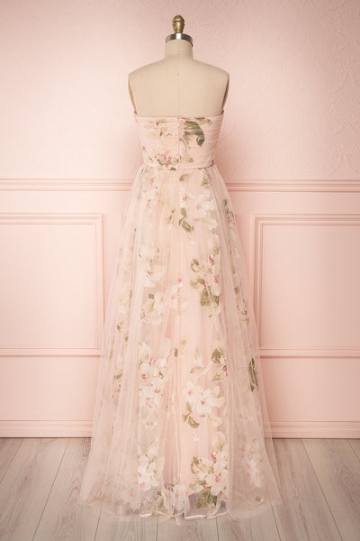 Marylou Blush | Pink Floral Gown