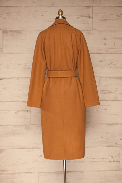 Mataro Brown Mid-Length Trench Coat | La petite garçonne back view
