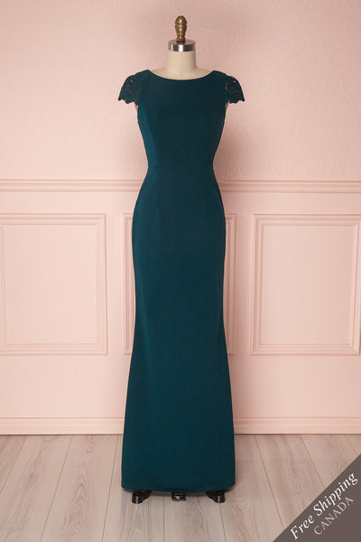 Maysa Aquamarine Teal Blue Mermaid Dress with Lace | Boudoir 1861