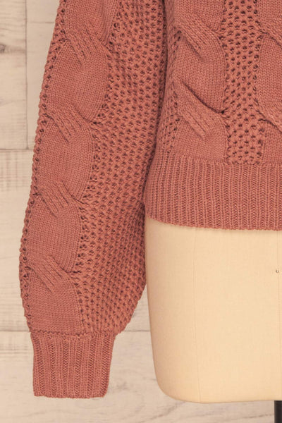 Mazowiecki Pink Cropped Knit Sweater | La petite garçonne bottom