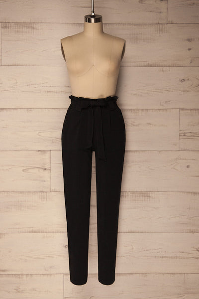 Mazy Black Straight Leg Dress Pants | La Petite Garçonne 1
