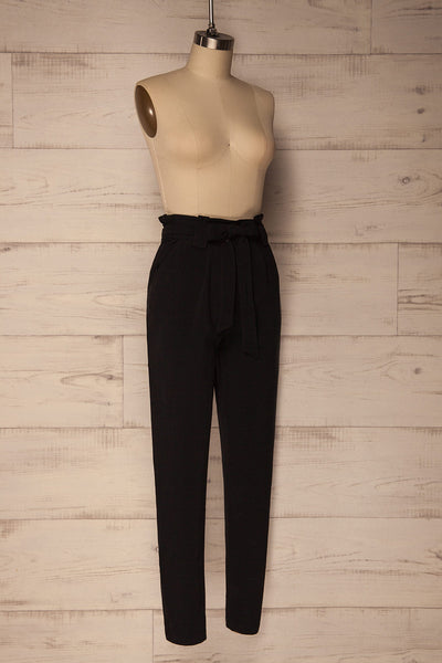 Mazy Black Straight Leg Dress Pants | La Petite Garçonne 3
