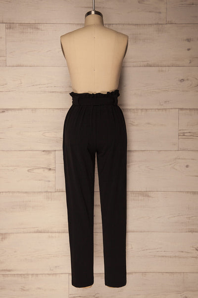 Mazy Black Straight Leg Dress Pants | La Petite Garçonne 5