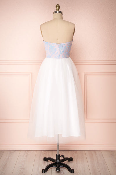 Melda Rose White & Pink Tulle Bustier Dress | Boutique 1861 back view