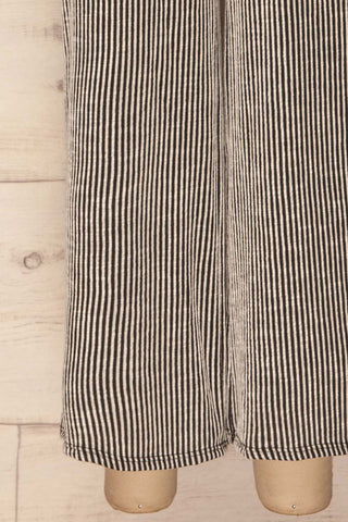 Mellier Black & White Striped Wide Leg Pants | La Petite Garçonne