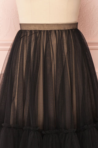 Mendoza Black Tulle Circle Skirt with Taupe Lining | Boutique 1861 3