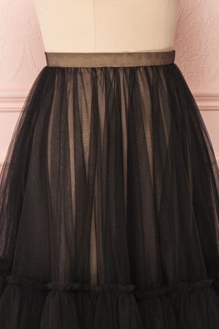 Mendoza Black Tulle Circle Skirt with Taupe Lining | Boutique 1861 5
