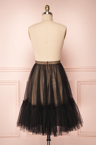 Mendoza Black Tulle Circle Skirt with Taupe Lining | Boutique 1861 6