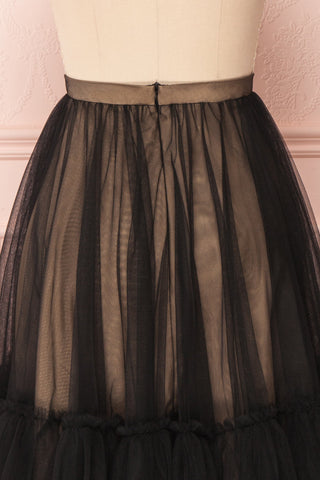 Mendoza Black Tulle Circle Skirt with Taupe Lining | Boutique 1861 7