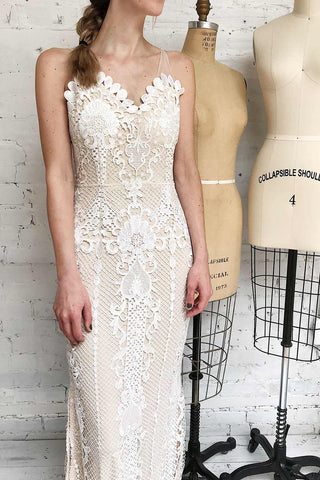 Micheline Ivory Lace Midi Bridal Dress | Boudoir 1861