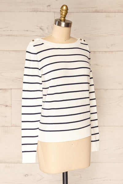 Middlesbrough Striped Long Sleeve Top | La petite garçonne  side view