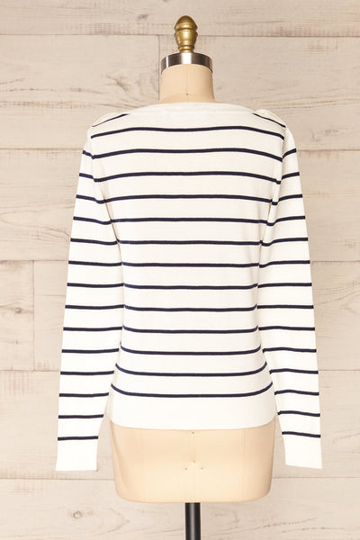 Middlesbrough Striped Long Sleeve Top | La petite garçonne  back view