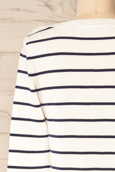 Middlesbrough Striped Long Sleeve Top | La petite garçonne  back close-up