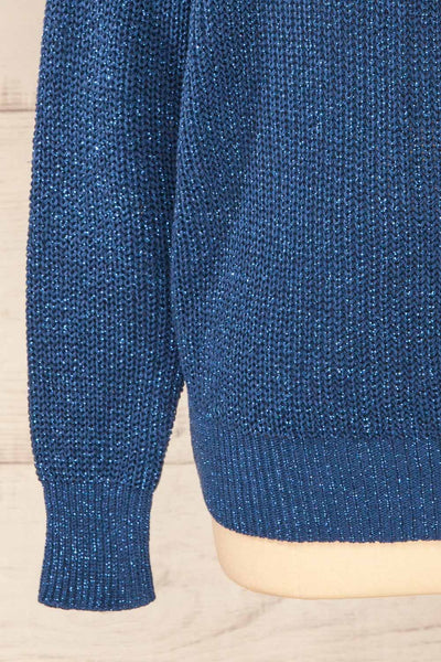 Miechow Ocean Blue V-Neck Knitted Sweater | La petite garçonne bottom
