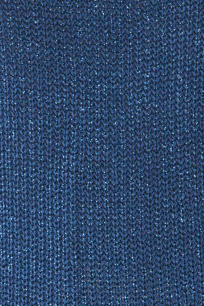 Miechow Ocean Blue V-Neck Knitted Sweater | La petite garçonne fabric