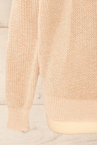 Miechow Tan V-Neck Knitted Sweater | La petite garçonne bottom