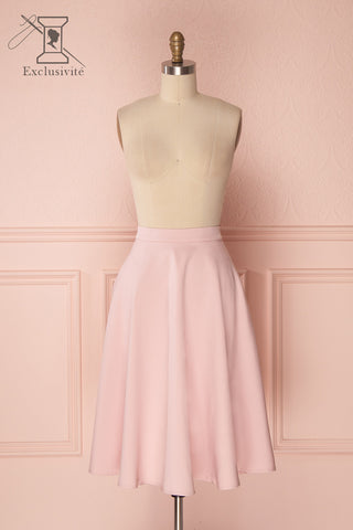 Migda Light Pink Midi Circle Skirt | Boutique 1861