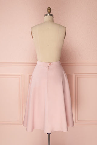 Migda Light Pink Midi Circle Skirt | Boutique 1861 5