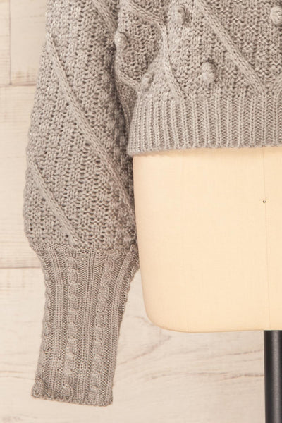 Miirsk Grey Cropped Knit Sweater | La petite garçonne bottom