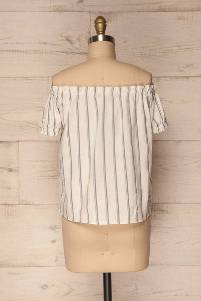 Mikulec White & Black Striped Off-Shoulder Top | La Petite Garçonne 6