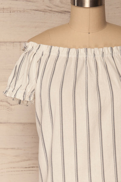Mikulec White & Black Striped Off-Shoulder Top | La Petite Garçonne 2