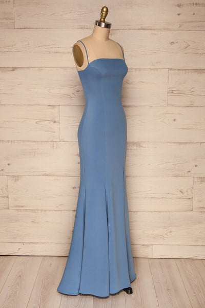Milena Blue Mermaid Gown | Robe side view | La Petite Garçonne Chpt. 2