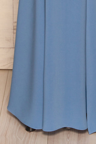 Milena Blue Mermaid Gown | Robe skirt close up | La Petite Garçonne Chpt. 2