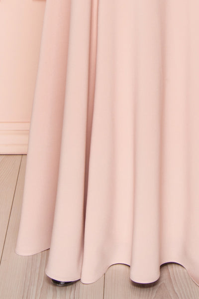 Milena Blush Light Pink Mermaid Maxi Dress | Boudoir 1861 bottom