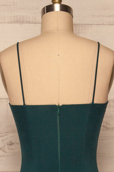 Milena Green Mermaid Gown | Robe back close up | La Petite Garçonne Chpt. 2
