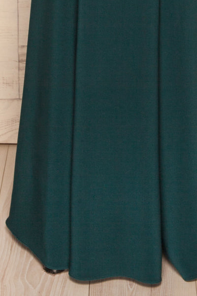 Milena Green Mermaid Gown | Robe skirt close up | La Petite Garçonne Chpt. 2