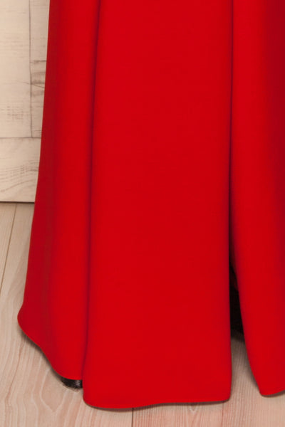 Milena Red Mermaid Gown | Robe skirt close up | La Petite Garçonne Chpt. 2