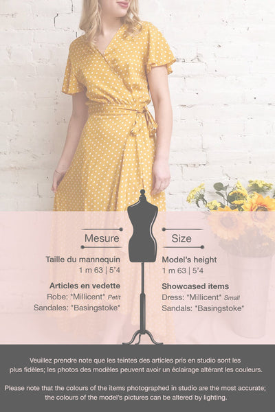 Millicent Yellow & White Polka Dot Dress | Boutique 1861 template