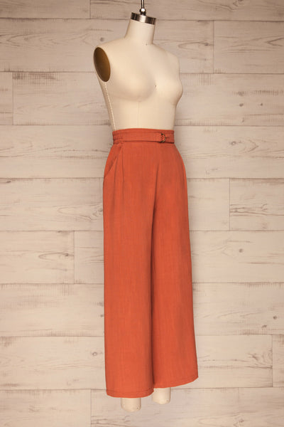 Mimi Palazzo Rust Orange Wide Leg Pants | La petite garçonne side view