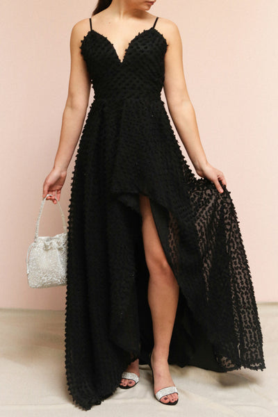Minjee Black Maxi Dress | Boutique 1861 on model