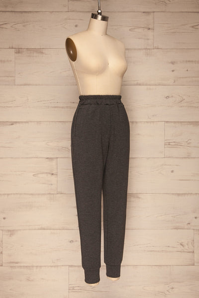 Mirano Washed Black Casual Joggers | La petite garçonne  side view