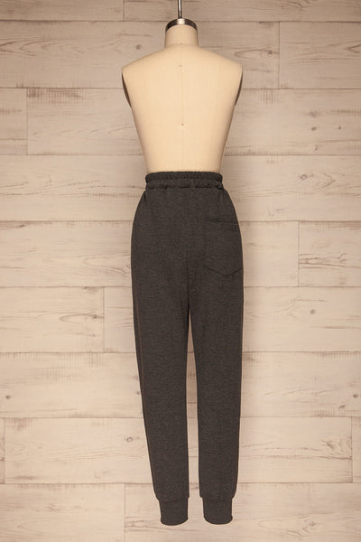 Mirano Washed Black Casual Joggers | La petite garçonne  back view
