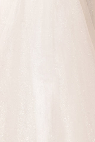 Mireille White Tulle & Crystal Gown | Robe fabric | Boudoir 1861