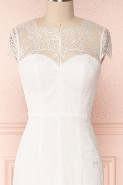 Mitsou White Lace Mermaid Bridal Dress | Boudoir 1861 3