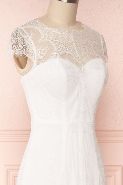 Mitsou White Lace Mermaid Bridal Dress | Boudoir 1861 5