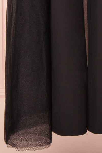 Mlynary Black Jumpsuit w/ Removable Tulle Panel skirt | Boutique 1861
