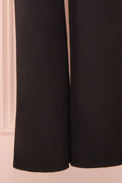 Mlynary Black Jumpsuit w/ Removable Tulle Panel pants | Boutique 1861