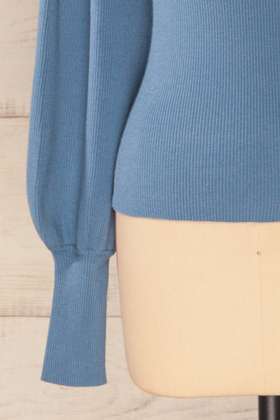 Moino Blue Puffy Sleeve Turtleneck | La petite garçonne bottom