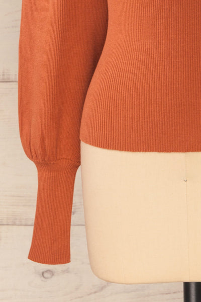 Moino Clay Orange Puffy Sleeve Turtleneck | La petite garçonne bottom