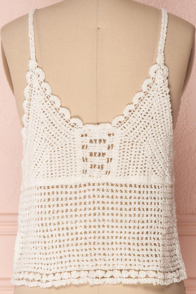 Momoa Ivory Crocheted Crop Tank Top | Boutique 1861 6
