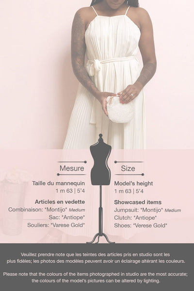 Montijo Cream Pleated Wide Leg Jumpsuit | La petite garçonne template