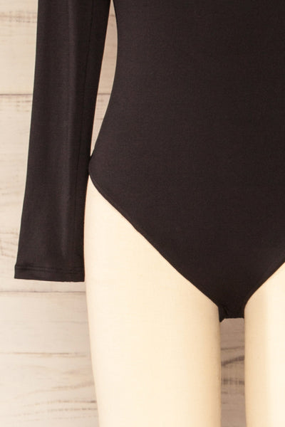 Mosta Black Long Sleeve Bodysuit | La petite garçonne bottom