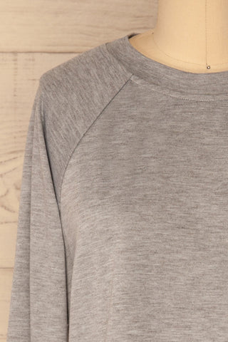 Mottola Brume Grey Pull-Over with White Ruffles | La Petite Garçonne 3