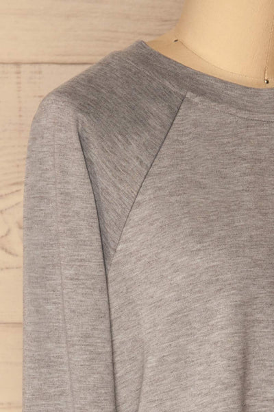 Mottola Brume Grey Pull-Over with White Ruffles | La Petite Garçonne 5