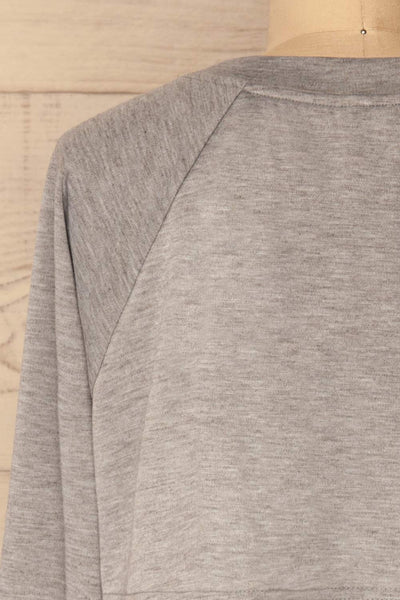 Mottola Brume Grey Pull-Over with White Ruffles | La Petite Garçonne 7