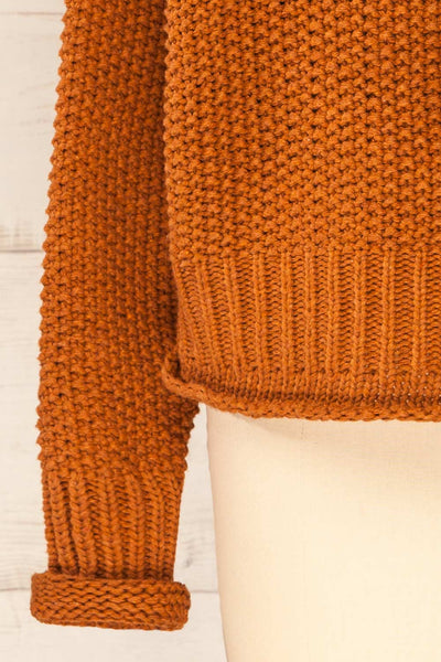 Murcie Orange Turtleneck Knitted Sweater | La petite garçonne bottom